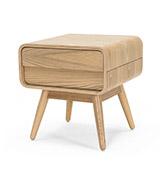 mesita de noche de diseño escandinavo de madera