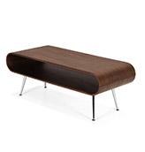 mesa de centro de madera de nogal
