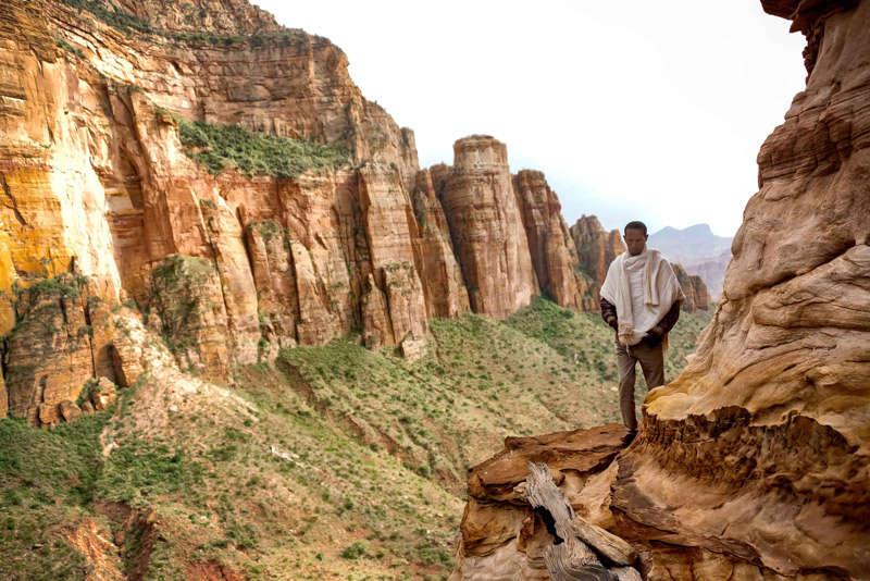 Iglesias en la montañas en Etiopía