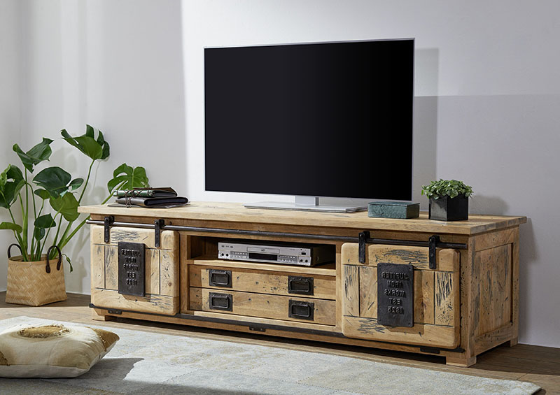 muebles de tv de madera estilo rústico