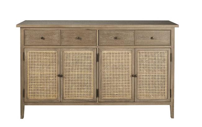 aparador de madera con cajones para el comedor o la cocina