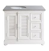 mueble de baño rústico de color blanco