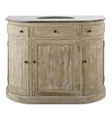 mueble de baño rústico de madera