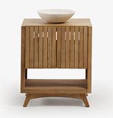 mueble para el baño es estilo rustico moderno