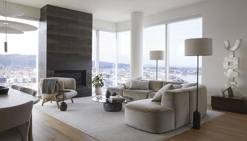 sillón y sofás de diseño moderno