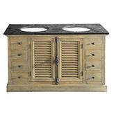 mueble de baño rústico de madera de pino