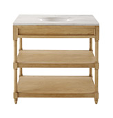 mueble de baño rústico con encimera de mármol