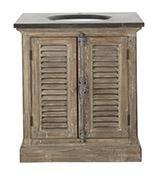 mueble de baño de estilo rústico de madera