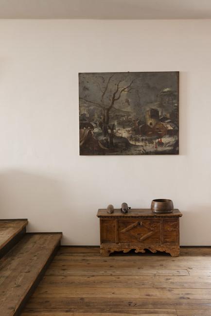 Interiores rusticos con muebles de madera