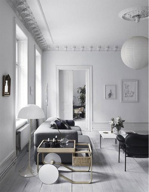 La madera y el color blanco en la decoración nórdica