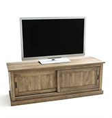 mueble de tv de madera maciza de pino de estilo rústico