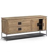 mueble de tv rústico de madera maciza
