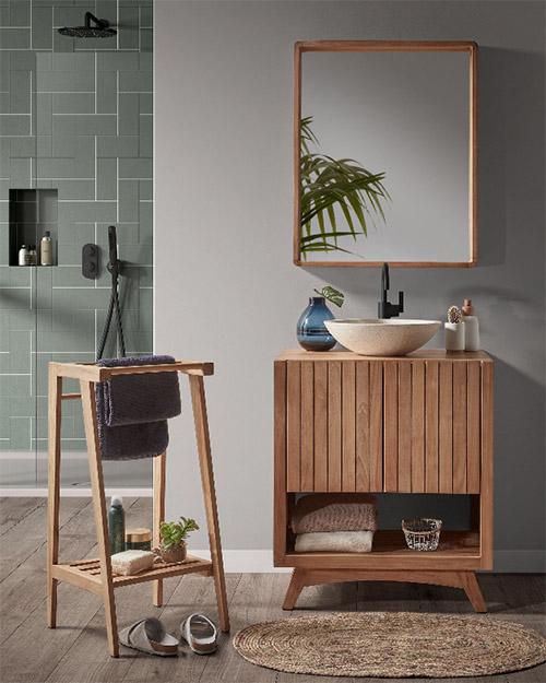 muebles rústicos para el baño