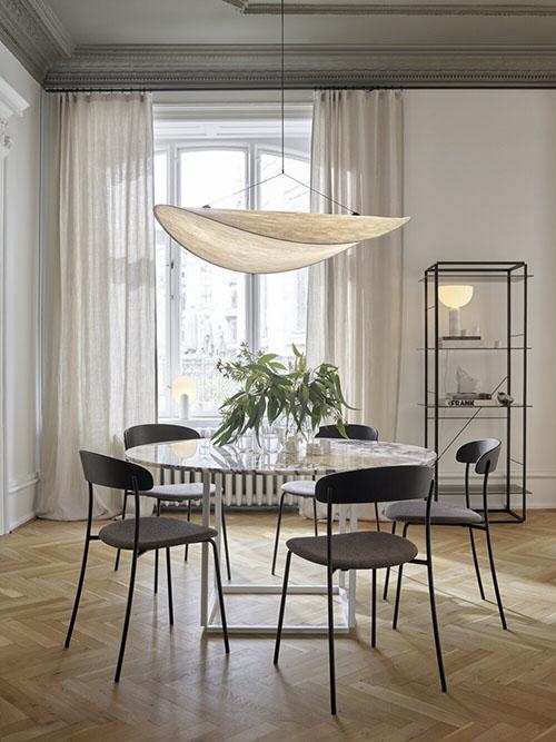 decoración de comedores con muebles de mármol