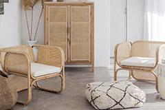 muebles de rattán y mimbre