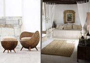 muebles de mimbre en la decoración del hogar