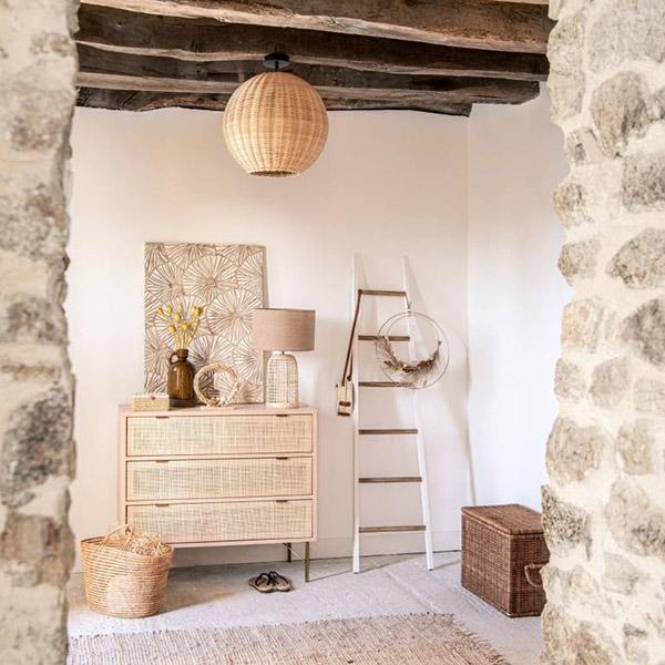 muebles y accesorios de ratán