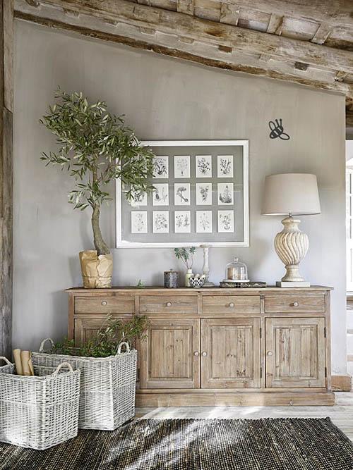 muebles rústicos para decorar una casa de campo