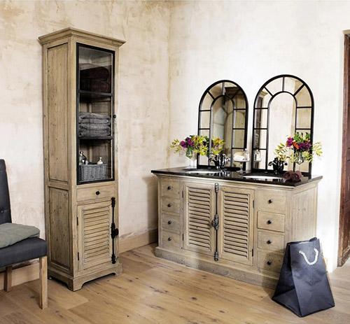muebles rústicos de baño de estilo colonial