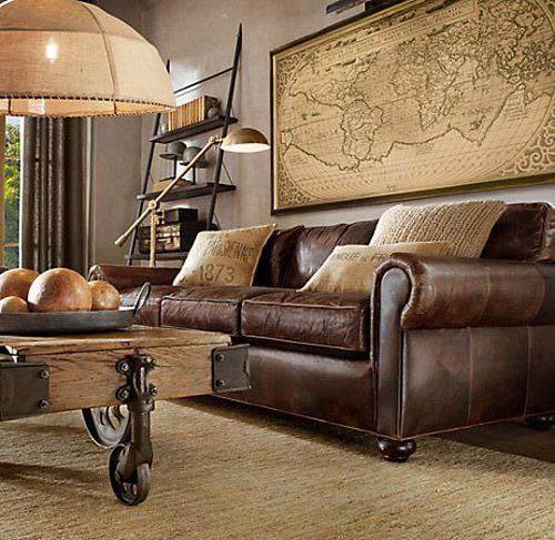 Cuero, madera y hierro en los salones de estetica industrial
