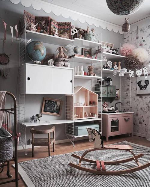 mobilario funcional en la zona de los niños