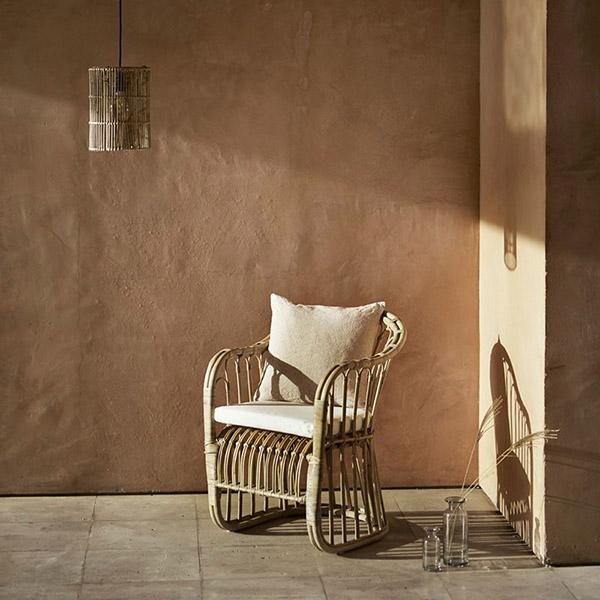 muebles de rattán para el jardín de casa