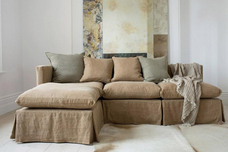 como limpiar lino sofa