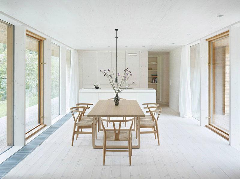 muebles de madera en la decoración nórdica