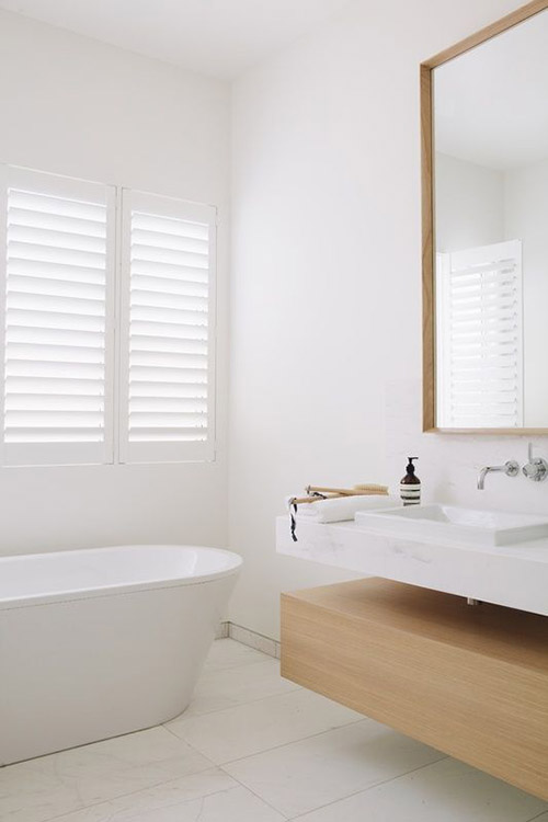 muebles de diseño minimalista y moderno para la decoración de baños