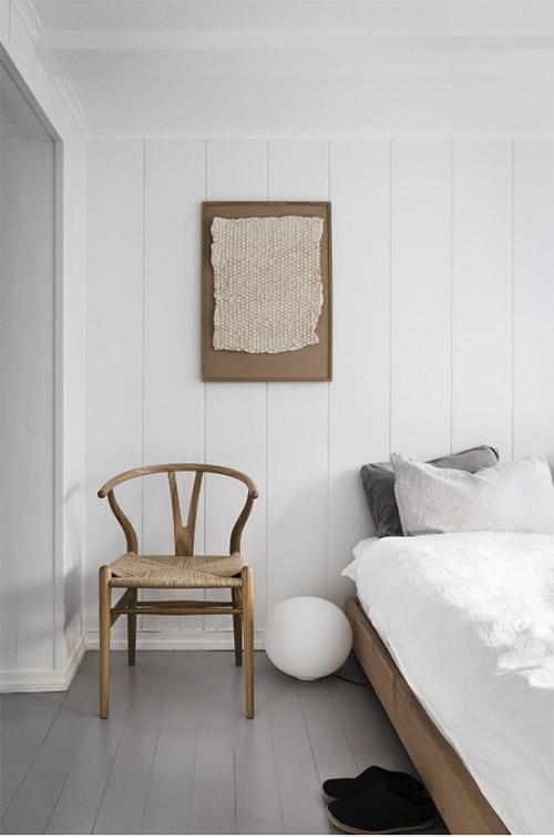 madera natural en la decoración de habitaciones