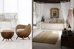 Muebles de mimbre en la decoración