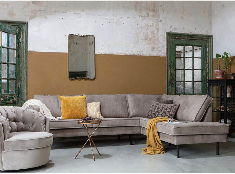 sofás de piel de estilo industrial