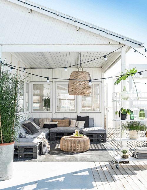 Muebles hechos con palets para la terraza