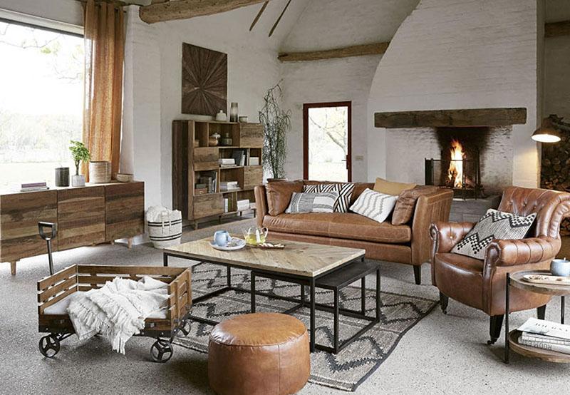 muebles de madera de estilo industrial