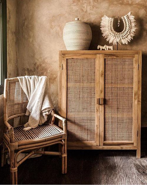 Muebles de rattan en la decoración de interiores