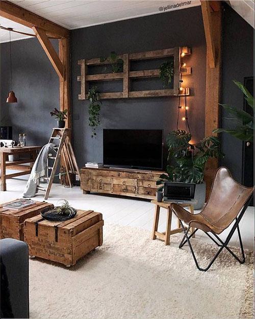 muebles vintage de cuero para decorar un loft