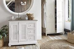 muebles rústicos de baño
