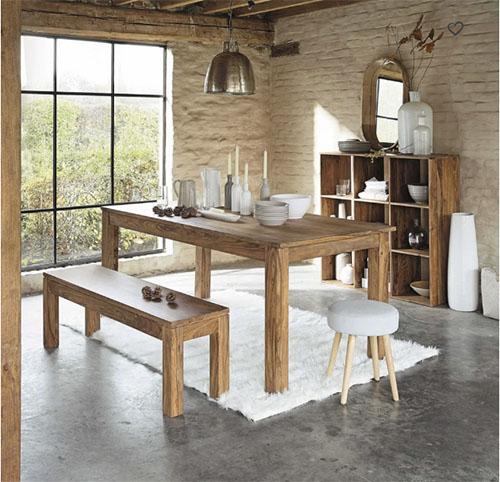 comedores rústicos con sillas y mesas de madera
