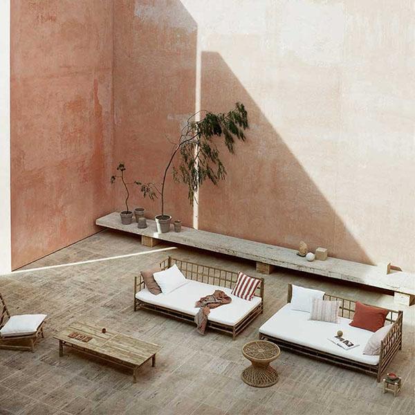 Muebles de ratán, mimbre y bambú para exterior