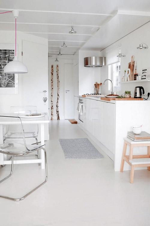 muebles transparentes para la decoración de cocinas