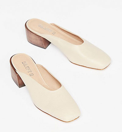 Mules color crema