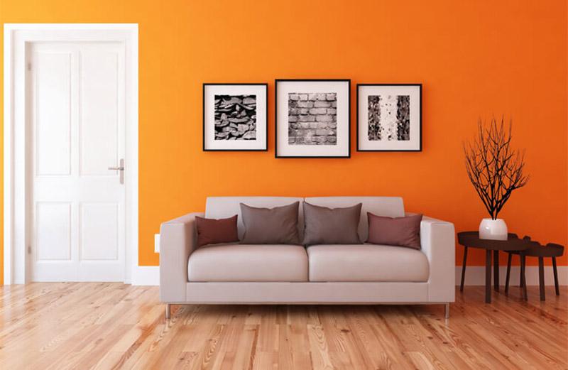 color naranja para decorar