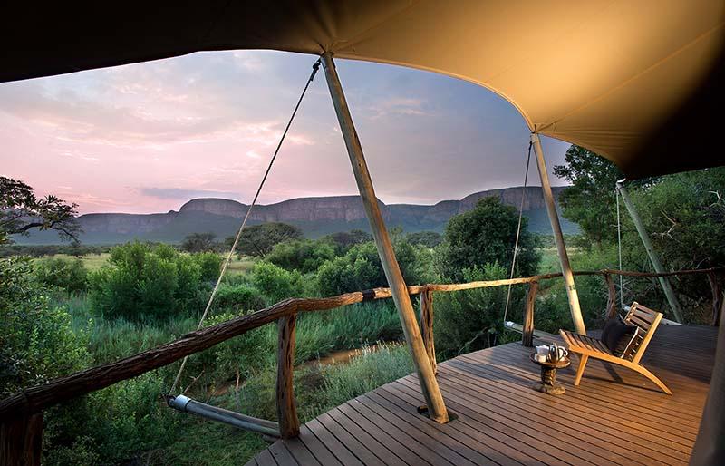 campamento de lujo en Sudáfrica