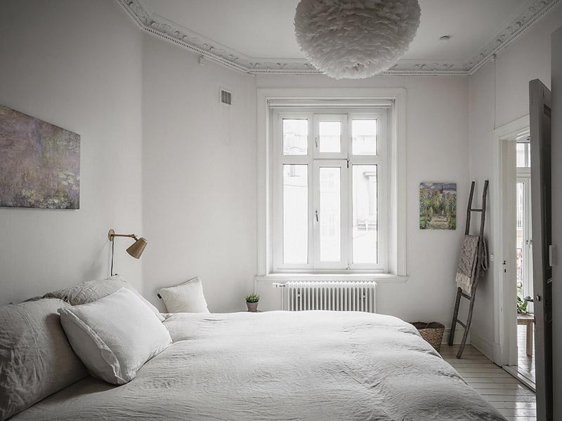 lámpara colgante de techo con pantalla de plumas