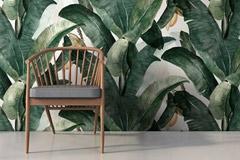 Decorar con papel pintado tropical