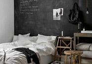 pared negra de pizarra