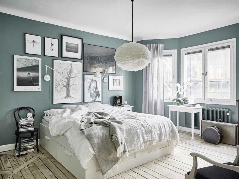 El color verde para pintar las paredes de una habitacion