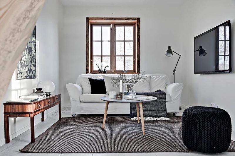 Madera y el color blanco en la decoración nórdica
