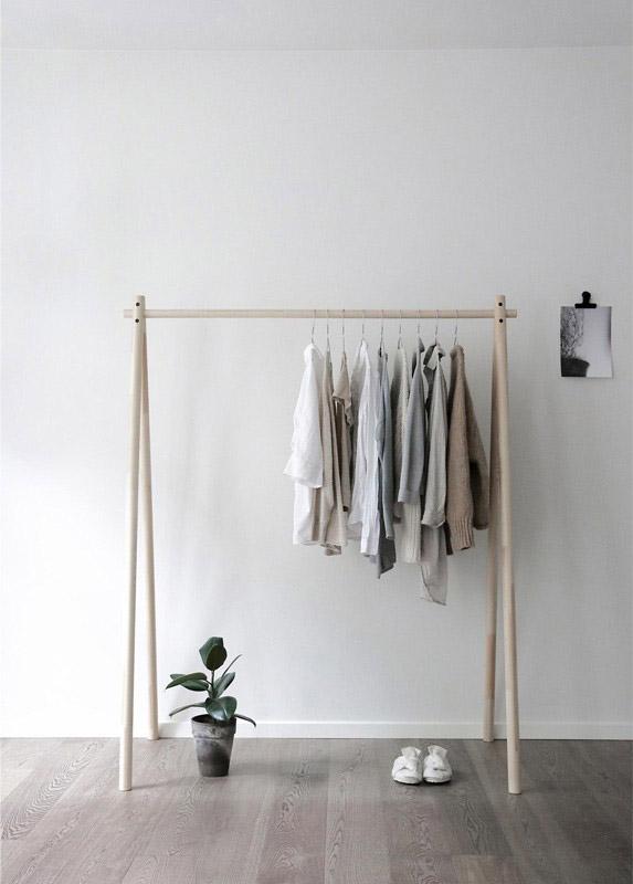 perchero de ropa de diseño nórdico