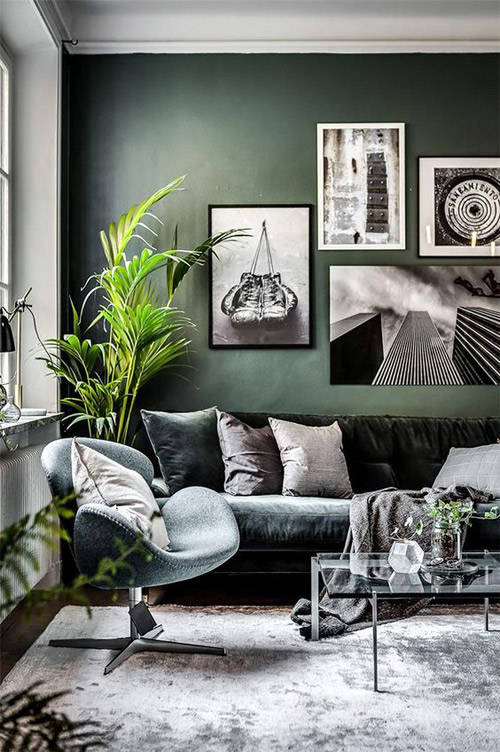 Tonos verdes en la decoración del hogar